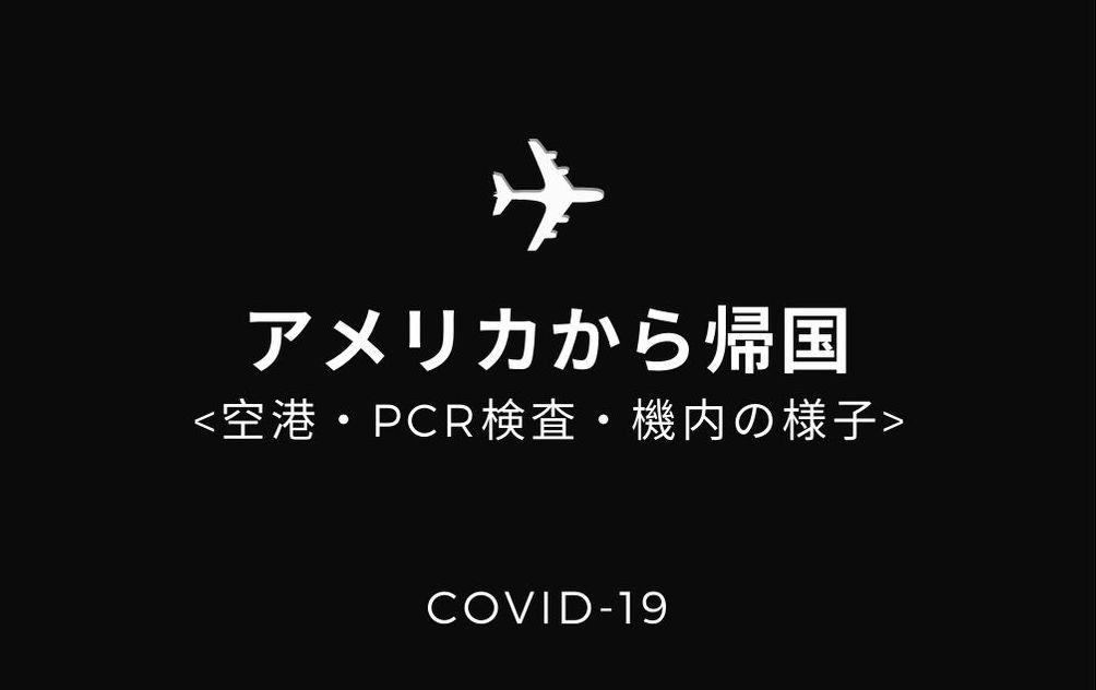 アメリカから帰国しました!入国手順・PCR検査・フライト・空港の状況など