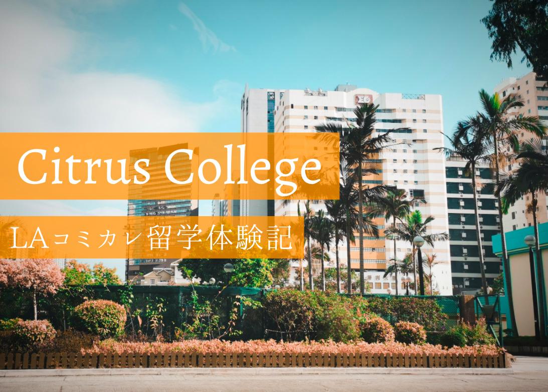 シトラスカレッジ(Citrus College)での留学生活を現地から紹介